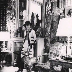 Coco Chanel in her Paris Apartment.