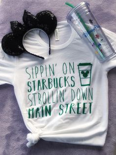PREORDER FOR MAY 19//Starbucks and Disney//Disney Shirt//Starbucks Shirt// by PixieDustTees on Etsy https://www.etsy.com/uk/listing/518741895/preorder-for-may-19starbucks-and