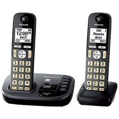 Cordless Telephones and Handsets: Panasonic Kx-Tgd222m Cordless Phone With Answering Machine- 2 Handsets -> BUY IT NOW ONLY: $44.29 on eBay!