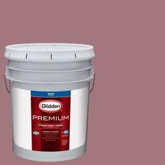Glidden Premium 5 gal. #HDGR24D Dusty Brick Satin Interior Paint with Primer
