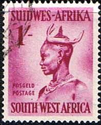 South West Africa 1954 Ovambo Woman Fine Used  SG 160 Scott 255 Other African and British Commonwealth Stamps HERE!
