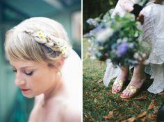 nestldown bridal portraits & bouquet via Gather West Photography