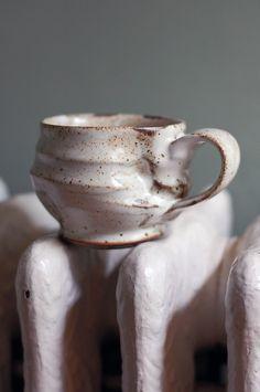 small white mug