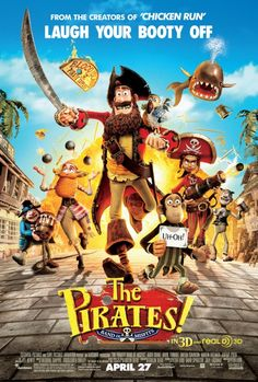 New Poster For 'Pirates! Band of Misfits.' Opens April 27, 2012