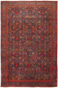 Antique Persian Bidjar Vase Design Rug : Lot 78