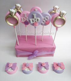 Made these for my sister's bridal shower Oreo Cookie Cake, Cookie Pops, Oreo Cookies, Cupcake Cookies, Chocolate Covered Treats, Chocolate Pops, Chocolate Dipped Oreos, Oreo Truffles, Oreo Pops