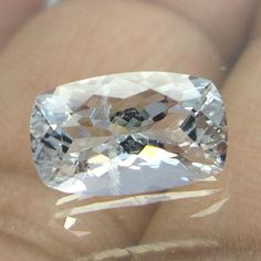 10.7x6.6 mm Goshenite SI Aquamarine White Beryl 2.2 Carat Cushion Faceted Stone #NAAZGEMS