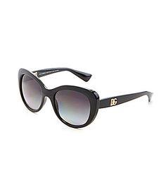 8fb78ccf018 Dolce and Gabanna Polarized DG Logo Oval Sunglasses  Dillards