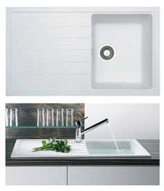 bluci piazza 10 compact kitchen sink in white granite - Compact Kitchen Sink