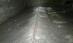 Hydrostatic pressure in a basement forcing the floor upwards Mother Nature, Basement, Floor, Homes, Shape, Pavement, Root Cellar, Houses, Boden