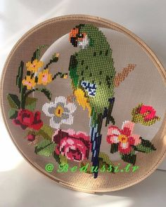 Hand Embroidery Patterns Flowers, Hand Embroidery Videos, Embroidery Designs, Cross Stitch Bird, Cross Stitch Flowers, Cross Stitch Embroidery, Modern Cross Stitch Patterns, Cross Stitch Designs, Creative Embroidery