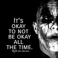 Some of us think that being strong means not crying bearing hard on the exterior and living in darkness but it's not always the case . Ergo the above quote Joker Love Quotes, Joker Qoutes, Joker Frases, Badass Quotes, Heath Ledger Joker Quotes, Joker Heath, Joker Joker, Joker Art, True Quotes