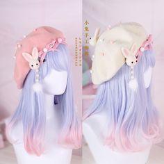 Hair Pin Lolita Hair Accessories Moe Sweet Japan Kawaii Bow Cute Beret Kawaii – Clothes, Make Up and more - Trend Pelo Lolita, Lolita Hair, Estilo Lolita, Lolita Makeup, Kawaii Fashion, Lolita Fashion, Cute Fashion, Fashion Beauty, Fashion Styles