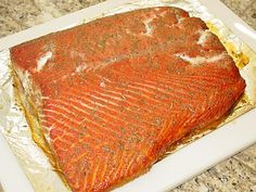Cured and smoked salmon fillet This recipe can be found at, http://www.virtualweberbullet.com/salmon1.html, along with a lot of great information and recipes for curing and smoking meat and fish. There are a lot of rubs you can make at home and it lays out step by step how to apply it as well.