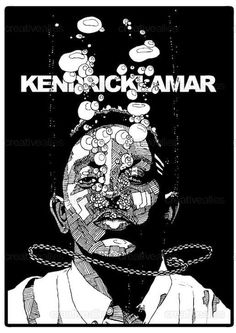 Kendrick Lamar Poster by drawingsandthat Kendrick Lamar Art, King Kendrick, Kung Fu Kenny, Hip Hop Art, Hip Hop And R&b, Dope Art, Cool Posters, Music Artists, Album Covers