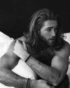 Manly Guys Long Surfer Hair