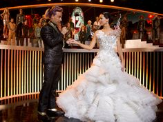 Katniss Everdeen's wedding dress... absolutely stunning...