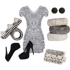 Punk Rock Glitter Girl, created by alanad23 on Polyvore