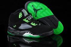 """2012 New Air Jordan 5 """"Quai Black/Radiant Green Jordan Basketball Shoes, Nike Air Jordan 5, Air Jordan 5 Retro, Air Jordan Shoes, Jordan Sneakers, Green Jordans, Jordans For Men, Air Jordans, Black Shoes"""