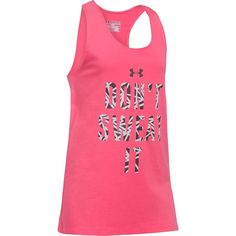 "Girls 7-16 Under Armour ""Don't Sweat It"" Graphic Tank Top, Girl's, Size: Medium, Brt Pink"