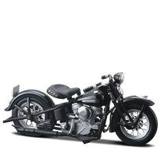 Miniatura Moto Harley-Davidson 1948 FL Panhead Maisto 1:18 - Machine Cult | A loja das camisetas de carro e moto