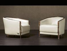 Nella Vetrina Rugiano Paris CC8 Arm Chair in white leather