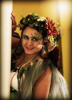 Mother nature costume hand made, mother nature and feries, mother nature makeup