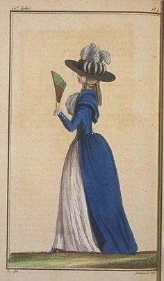 Cabinet des Modes, August 15, 1788, 19e Cahier. 1ere Figure.