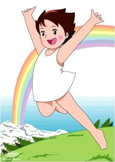 heidi in happiness Heidi Cartoon, Cartoon Shows, 80 Cartoons, Animated Cartoons, 90s Childhood, Childhood Memories, Cute Cartoon Pictures, Old Anime, Classic Cartoons