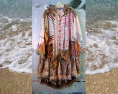 Hand Painted Boho Art Jacket Coat Duster 2x 3x by BohemianPassions