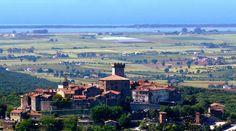 Una veduta di Capalbio (Foto ANSA)