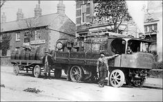 No 1 Engine - delivering beer Steam Tractor, Old Lorries, Road Transport, Gas Turbine, Uk History, Transport Companies, Old Tractors, Steamers, Commercial Vehicle