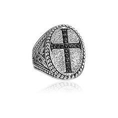 Scott Kay, SCOT-1139 Black Sapphire Cross Ring, scottkay.com