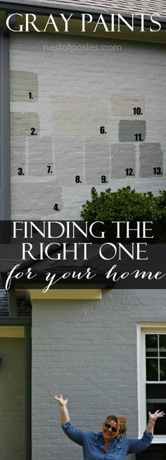 Exterior Gray Paint Colors and picking the right one for your home.