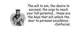 Confucius - Personal excellence