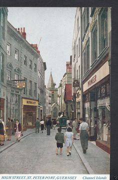 Channel Islands Postcard - High Street, St Peter Port, Guernsey BE500   eBay