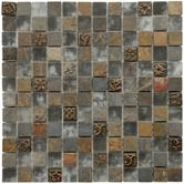 "Found it at Wayfair - Abbey 12"" x 12"" Glass, Stone and Metal Mosaic in Cologne Glass"