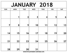 january 2018 calendar vertical