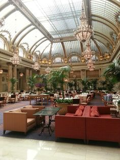 The Palace Hotel, San Fran  #Steampunk #Interior #Architecture (Looks like a ballroom)