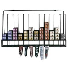 Salon Tuff Hair Color Tube Rack for sale by Keller International. Holds 72-96 boxes & 24 opened chemical tubes, wall-mounted. Shop beauty equipment!
