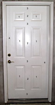 Steel Door Painting Sequence-Paint By The Numbers