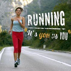 Running. It's you vs you! #running #run #fitfluential