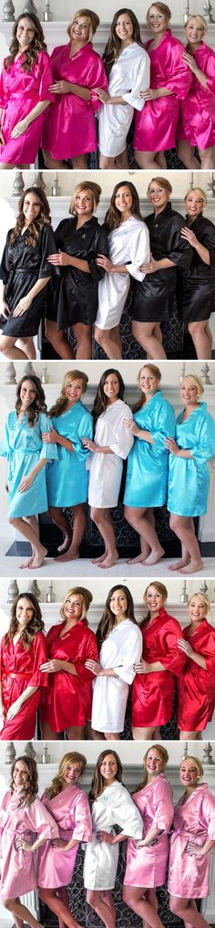 Personalized Satin Robes for your Bridesmaids (7 Colors Available) - What a great gift!!
