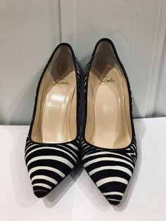 1a078ddecdb7 AUTHENTIC CHRISTIAN LOUBOUTIN PIGALLE Follies Pony 100 PUMPS SIZE 36.5   fashion  clothing  shoes  accessories  womensshoes  heels (ebay link)