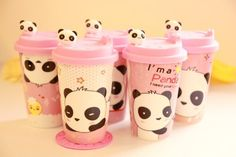 Amazon.com - Ceramic Coffee Mug with Silicone Lid - Cartton Panda - Travel Mugs