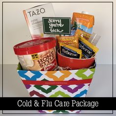 "BLOG: ""DIY Cold and Flu Care Package"" by organized CHAOS - simple solutons for calming your chaos http://www.organizedchaosonline.com"