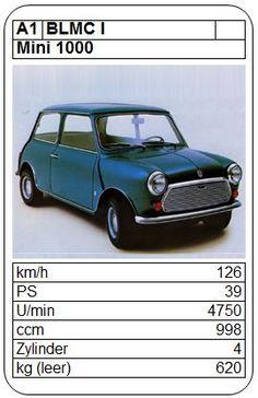 Mini 1000 - ASQ - 1976 Classic Mini, Classic Cars, Top Trumps, Maybach, Mini Me, Hot Wheels, Vintage Cars, Graphic Art, Automobile