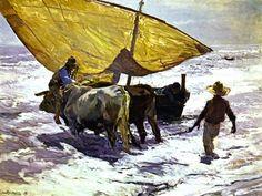 SOROLLA Y BASTIDA Joaquin (1863 - 1923) - Landing the Boat, Valencia