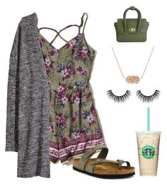 """""""Untitled #94"""" by denisse-arellanoaguirre on Polyvore featuring Hollister Co., H&M, Birkenstock and Kendra Scott"""