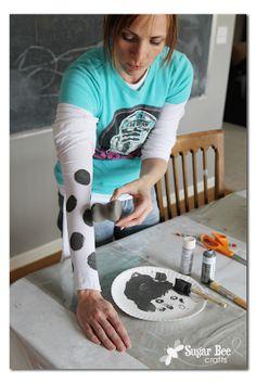 DIY Polka Dot Tights